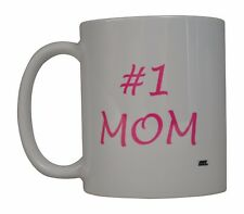 Best Funny Coffee Mug Tea Cup Gift Idea Mother's Day #1 Mom Pink Mother Wife