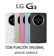 FUNDA FLIP COVER S VIEW  QUICK CIRCLE PARA LG G3 5 COLORES DISPONIBLES