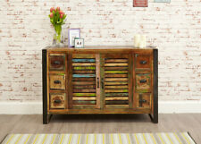 Reclaimed Timber Loft Style Industrial 6 Drawer Sideboard Cabinet