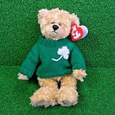 Rare Ty Attic Treasures Blarney The Bear 1995 Retired Jointed Plush Bear - MWNMT