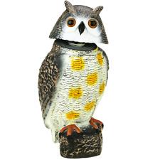 Ahuyentador de aves tipo estatua búho con ojos reflectantes 40cm macho