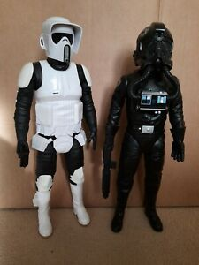 Star Wars Jakks Pacific Scout Trooper and tie fighter pilot 18""
