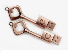 USB Stick 16GB Schlüssel Herz Liebe Geschenk Valentinstag Antik Design Hochzeit