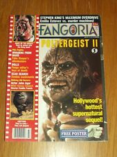 FANGORIA #54 POLTERGEIST 2 CRITTERS MAXIMUM OVERDRIVE WITH POSTER