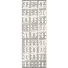 Safavieh Grey/ Ivory Flat weave Wool Runner 2' 6 x 9'