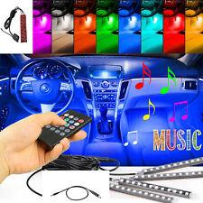 🔥RGB LED Glow Car Lamp Under Dash Footwell Seats Inside Lighting USB Music 4X