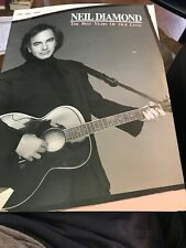 Neil Diamond: The Best Years Of Our Lives Songbook Sheet Music Song Book