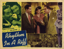 RHYTHM IN A RIFF '47 AFRICAN AMERICAN BILLY ECKSTINE LOBBY CARD