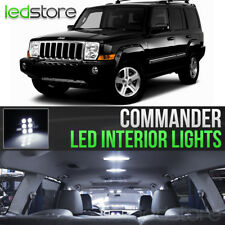 2006-2010 Jeep Commander White LED Lights Interior Kit Package Bulbs