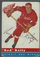 1954-55 Topps Detroit Red Wings Hockey Card #5 Red Kelly