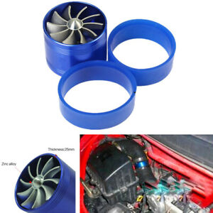 Single Supercharger Turbine Turbo Charger Fuel Saver Fan Air Intake Booster