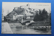 Tarjeta postal antigua LOURDES - El Castillo Fuerte