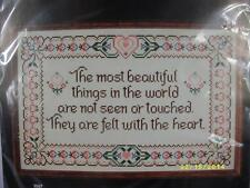 "Dimensions Counted Cross Stitch ""Beautiful Things Sampler"" #3705 NIP VTG 1982"