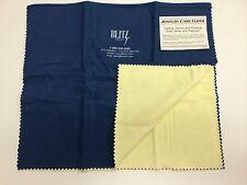 "Blitz Jewelry Rouge Cloth / Polishing Cloth 15"" x 24"" Blue/ White"