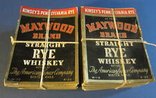 Wholesale Lot of 1,000 Old Maywood WHISKEY Bottle LABELS - Kinsey's Pennsylvania