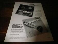 RONNIE EARL & JIMMY ROGERS - Publicité de magazine / Advert !!!