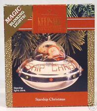 "1990 Hallmark- Magic Ornament ""Starship Christmas"""