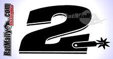 COLIN EDWARDS #2 WSBK MotoGP stile adesivi Numero Gara X3