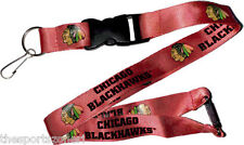 Chicago Blackhawks Break Away Lanyard with Double Sided Logo/Graphics