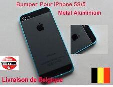 0.7mm Bleu BUMPER HOUSSE COQUE EN METAL ALUMINIUM POUR IPHONE 5 5S