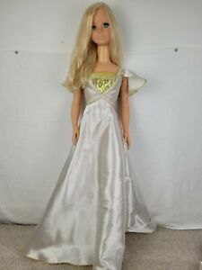 """1992 MY SIZE BARBIE 38"""" Blonde Hair Blue Eyes Life Size Doll Original Gown"""