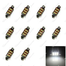 10X White 39MM 38MM 9 SMD 3528 LED Dome Light Bulbs Canbus Error Free Car Z20119