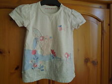 Gorgeous pastel pink, blue, white top, embroidered detail, NUTMEG, 18-24 months