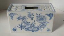 BEAUTIFUL BLUE & WHITE CERAMIC FLOWER HOLDER BOX - ANDREA by SADEK