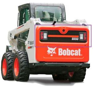Bobcat tailgate Door BLACK Decal Sticker Skid Steer S595 S630 S650 S740 S770 OEM