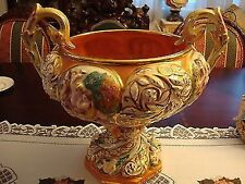 Capodimonte monumental double handled centerpiece urn