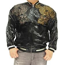 Satori JAPANESE SUKAJAN Jacket Reversible Gold Silver Dragon EMBROIDERY Size L