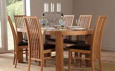 Wood Veneer Fixed Modern Table & Chair Sets