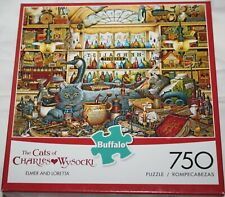 """The Cats Of Charles Wysocki """"Elmer And Loretta"""" 750 Piece Puzzle - Complete"""