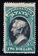 US O68 $2 State Department Mint w/ Plt# Capture & PSAG Cert F-VF OG LH SCV $1800