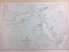 Nautical Chart of the Okisollo Channel, British Columbia, Canada