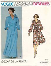 1970's VTG VOGUE Dress Oscar de la Renta Pattern 1281 Size 12 UNCUT