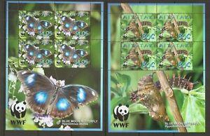 Aitutaki / Blue Moon Butterfly ( Hypolimnas Bolina ) Set Of Four . MNH