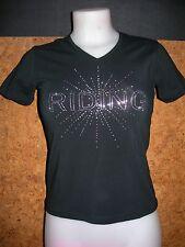 Tee shirt  équitation EQUI THEME Diamond (963080201) , femme / NOIR en S / NEUVE