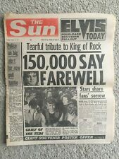 More details for the sun newspaper 19th august 1977 elvis presley complete page 3 angela jay
