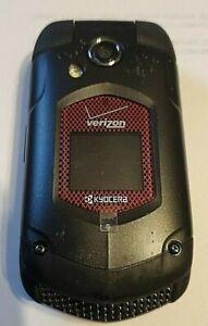 VERIZON, KYOCERA, 3G, DURAXV E4520 BLACK, FLIP PHONE, NO CORD, tested, pre-owned