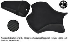 CARBON VINYL SUEDE BLACK ST CUSTOM FOR YAMAHA YZF R6 17-18 FRONT REAR SEAT COVER