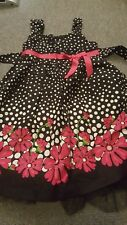 Bonnie Jean  dress Size 6 in black color with flower design