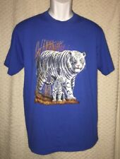 90's Vintage White Tiger And Cub T-Shirt Size Adult Medium