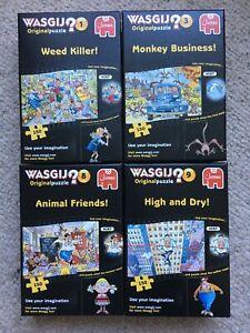 4 x Wasgij 150 Piece Original Jigsaw Puzzles COMPLETE