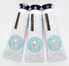 3 Bath & Body Works ALMOND Shea Butter Hand Cream Lotion Travel Trial Mini To Go
