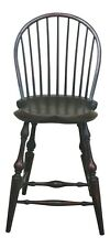 48069EC: DR DIMES Country Green Crackle Finish Windsor Chair