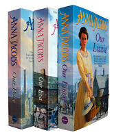 Anna Jacobs Kershaw Sisters 3 Books Our Polly Lizzie Eva Family Saga Pack New