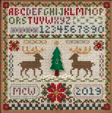 Cross Stitch Kit Mill Hill Buttons & Beads Christmas Holiday Sampler #MH14-1633