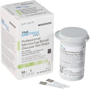 McKesson TRUE METRIX PRO & Controls Blood Glucose Test Strips 06-R3051-45 50 Ct