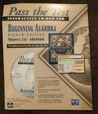 Pass The Test: Interactive Cd-Rom For Beginning Algebra (Eighth Edition) - New!
